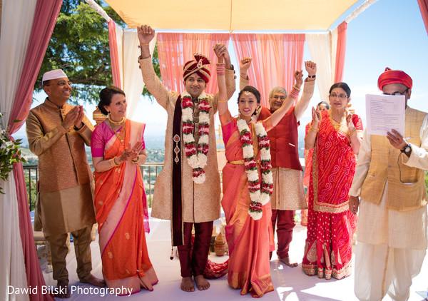 Dazzling indian newlyweds