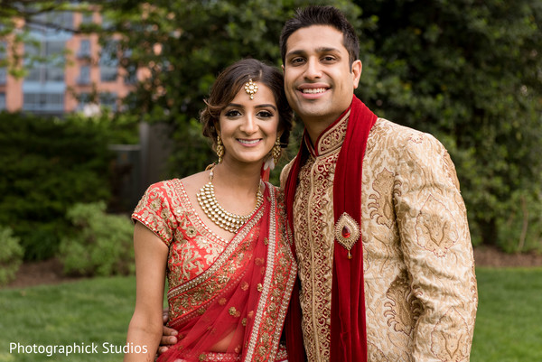 outdoor photography,indian bride and groom portrait,bridal jewelry