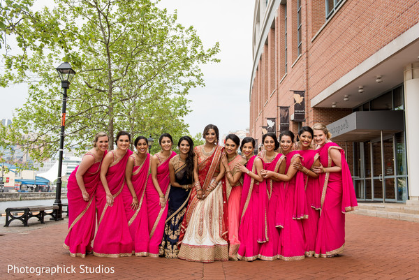 indian bridesmaids' fashion,indian bride fashion,indian bridal party