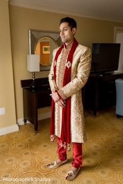 indian groom getting ready,indian groom,indian groom sherwani