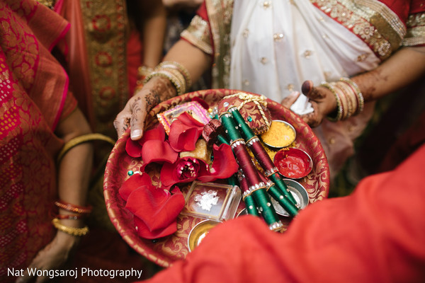 Indian wedding milni ritual items