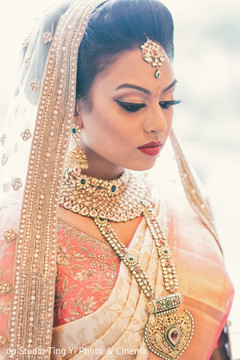 indian bride,hair and makeup,portrait,bridal jewelry