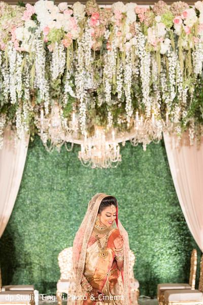 Indian bride solo portrait.