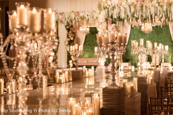 Decadent wedding ceremony decor.