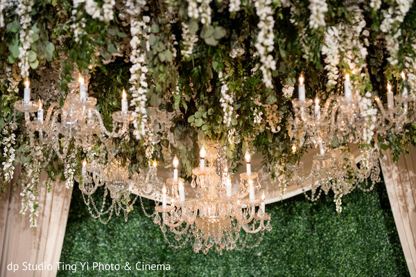 Sophisticated  wedding mandap floral and decor .