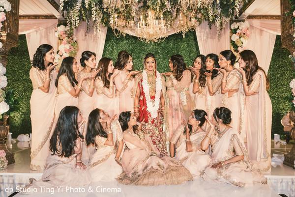 Sweet Indian bridal party portrait.