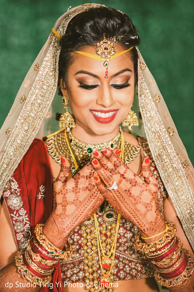 Glowing Indian bride.