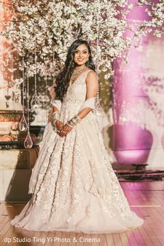 indian wedding photography,indian bride,white lengha,reception fashion