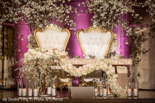 Majestic Indian wedding sweetheart stage.