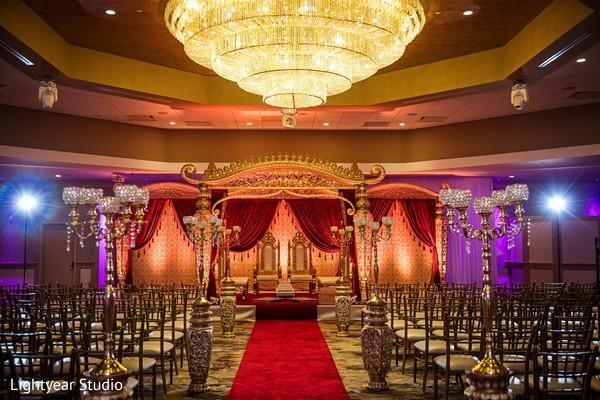 Ecstatic Indian wedding ceremony venue.