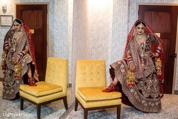 Indian bride unique look.