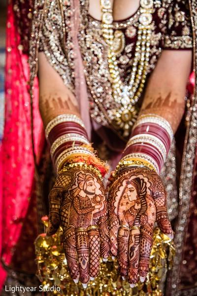 Romantic bridal mehndi design.