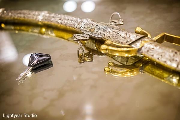 Indian groom accessories.