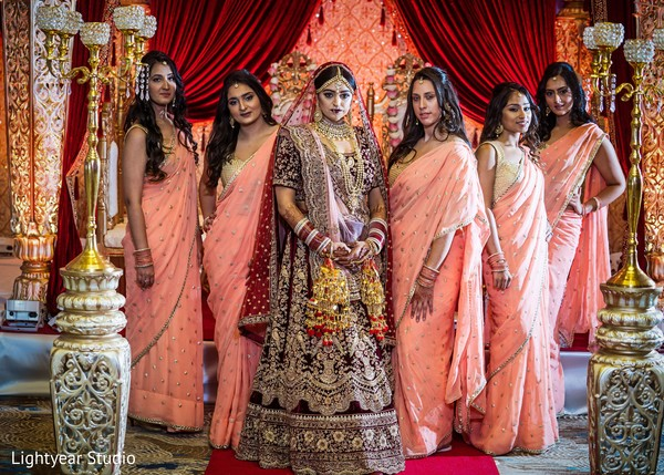 indian bride,indian wedding photography,bridal party