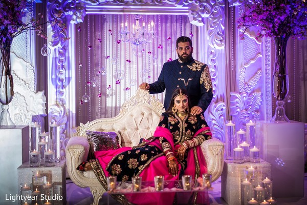 floral and decor,indian bride and groom,indian wedding photography