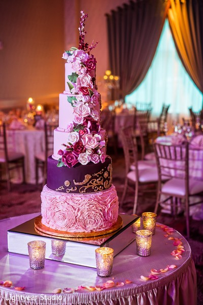 floral and decor,wedding cake,indian wedding reception