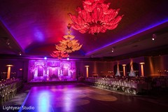 floral and decor,uplightning,indian wedding reception,reception venue