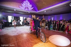 indian bride and groom,indian wedding reception,rickshaw