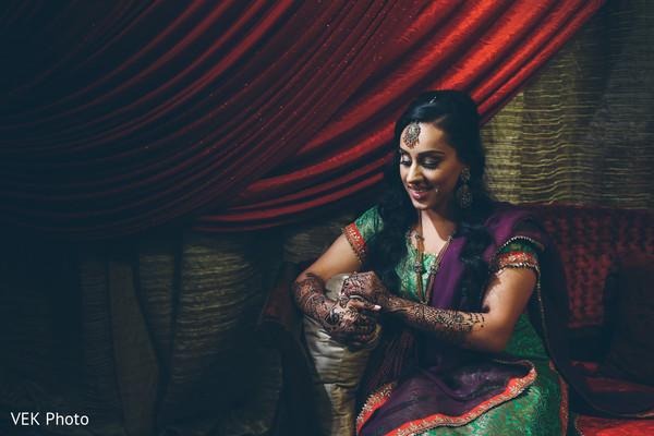 Adorable indian bride posing for photo shoot