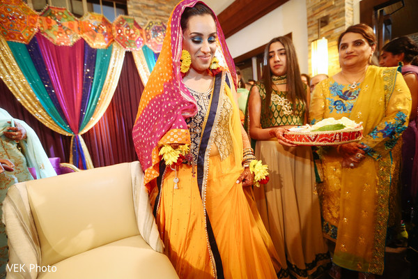 Gorgeous indian bride at her mehndi party