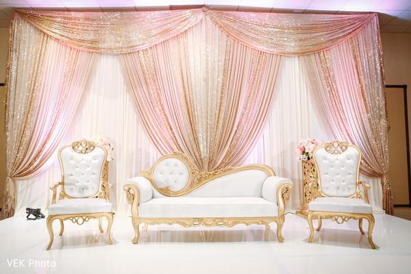Indian wedding nikkah reception decor