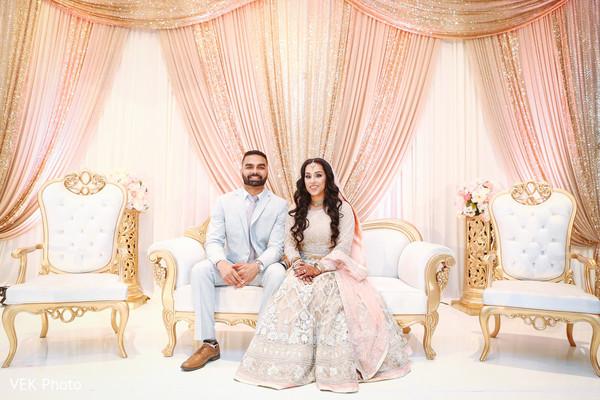 Sweet indian bride and groom