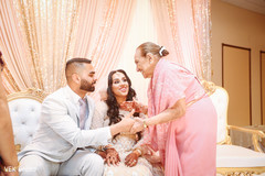 Indian bride and groom treasure moment