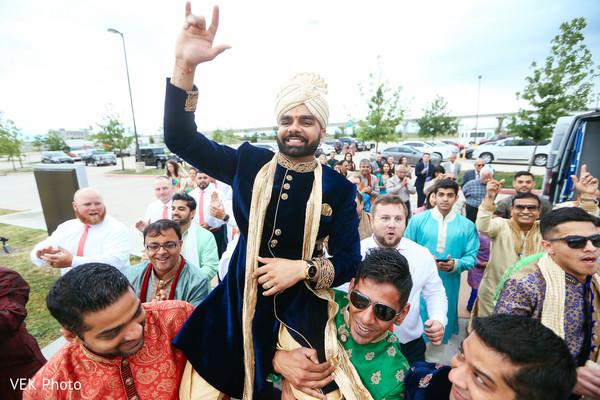 Indian wedding baraat procession