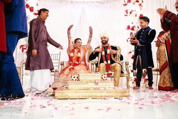 Indian wedding ceremony joyful moment