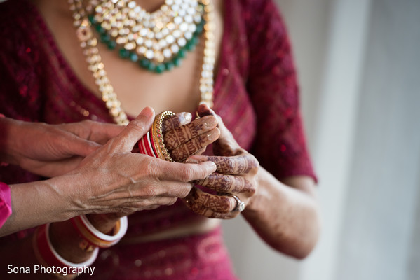 indian bride getting ready,maharani's bridal bangles,bridal jewelry