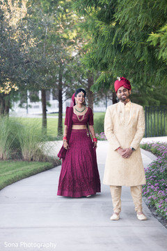 first look photography,indian bride lengha,indian groom fashion