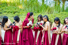 indian bridal party,indian bride fashion,indian bridesmaids' fashion