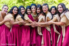 indian bridal party,indian bride fashion,indian bridesmaids' fashion