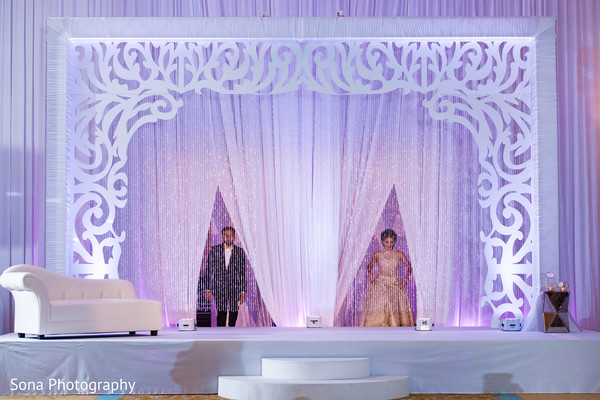 indian wedding reception,indian bride and groom,reception stage