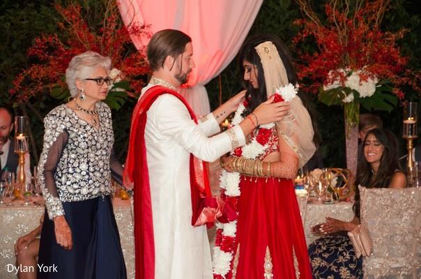 indian wedding reception,indian bride and groom,jaimala