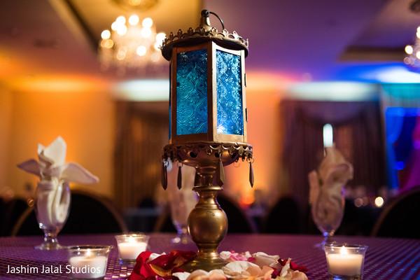 Unique sangeet lamp centerpiece.