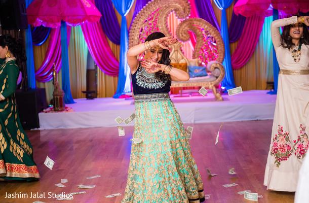 Traditional sangeet night choreography.