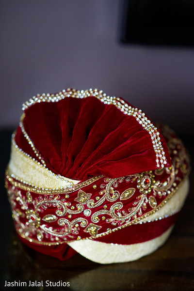 Traditional Indian groom turban.
