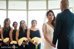 indian bride and groom,christian indian wedding ceremony,indian bridesmaids