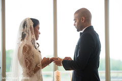 indian bride and groom,christian indian wedding ceremony,ring exchange