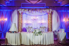 floral and decor,indian wedding reception,wedding cake