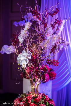 indian wedding reception,sweetheart stage,floral and decor