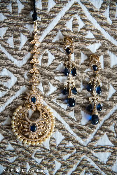 Gorgeous gold and blue tikka