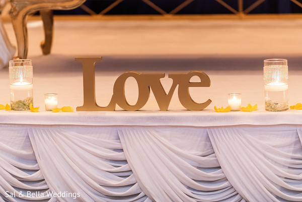 Beautiful indian wedding stage sign