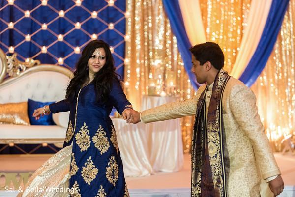 Indian couple dancing the night away