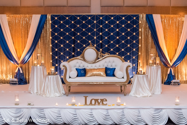Stunning indian wedding reception stage decor