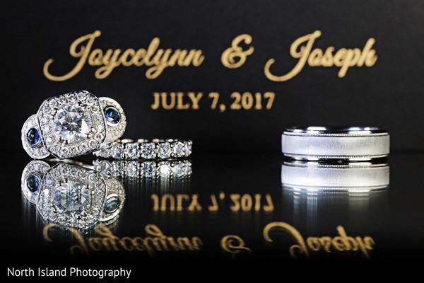 Fabulous Indian wedding rings photography.