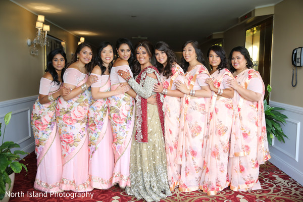 Dreamy Indian bridal party.