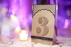 floral and decor,table number,indian wedding reception