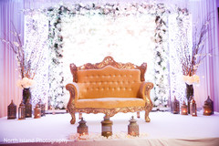 floral and decor,indian wedding reception,sweetheart stage